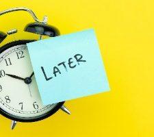 basta procrastinare